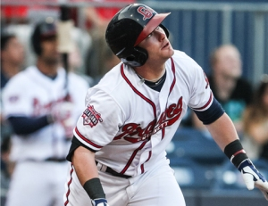 Terdoslavich clubbed his 18th homer of the season Tuesday night.  (Moore)