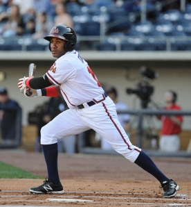 Jose Constanza (credit Chris Roughgarden / Gwinnett Braves)