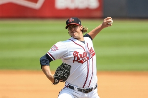 Ryan Buchter, photo by Karl Moore / Gwinnett Braves.