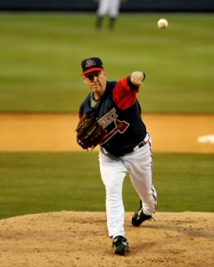 Newly-minted Baseball Hall-of-Famer Tom Glavine pitched twice for Gwinnett in 2009.