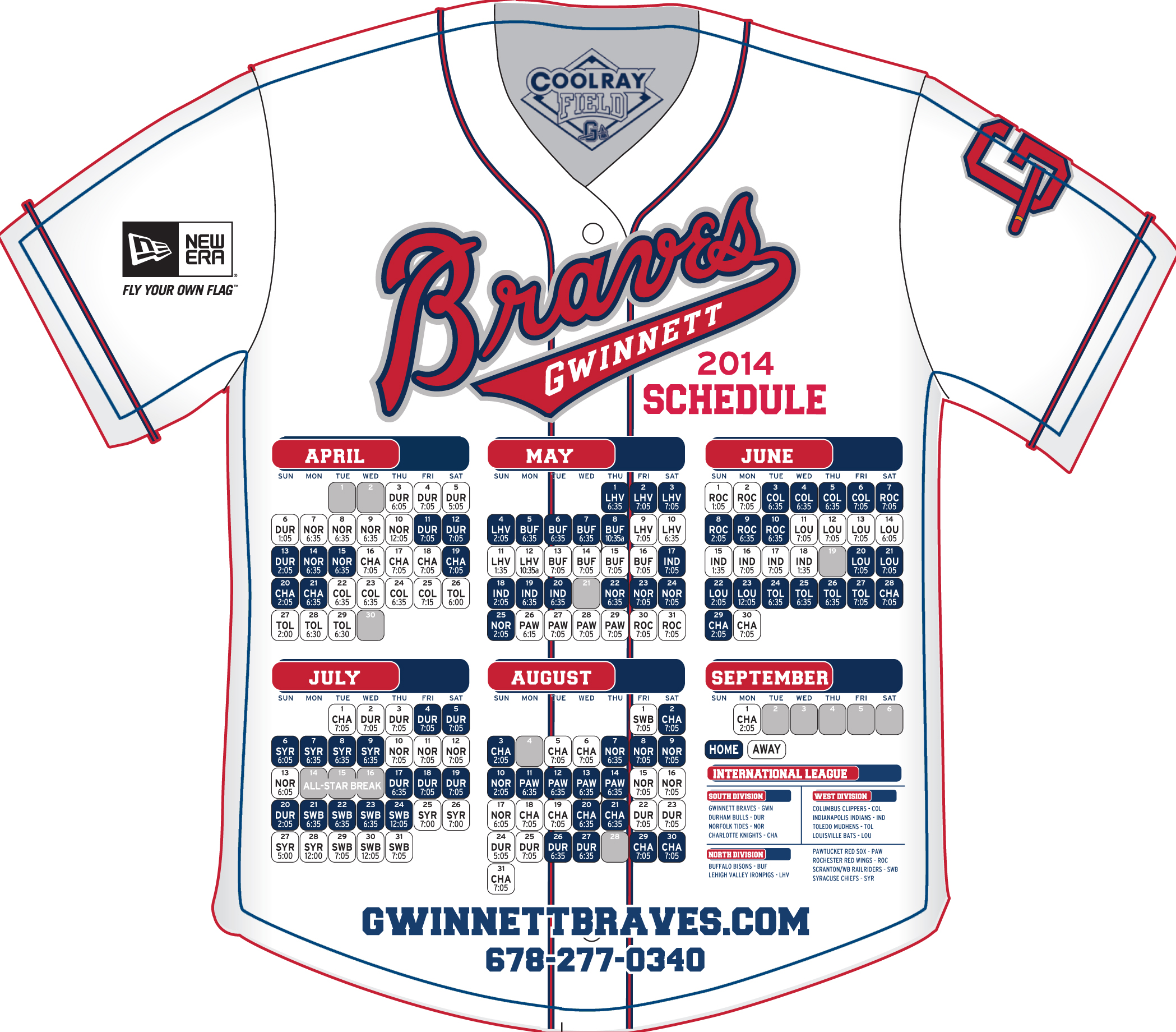 It is a graphic of Punchy Braves Printable Schedule