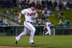 Phil Gosselin, Gwinnett infielder in 2013. (Chris Roughgarden)