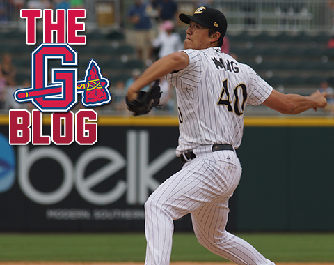 Chien-Ming Wang went 13-8 with a 4.12 ERA in 28 Triple-A starts in 2014.  (Credit Tommy Viola / Charlotte Knights)