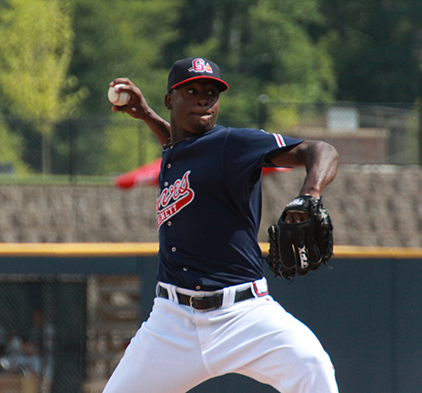 Arodys Vizcaino went 1-0 with a 1.29 ERA in six relief outings with Gwinnett in 2011.