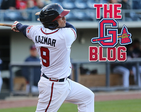 Sean Kazmar, a member of the Gwinnett Braves for the past two seasons, re-signed on November 12.  (Taylor Botta / Gwinnett Braves)