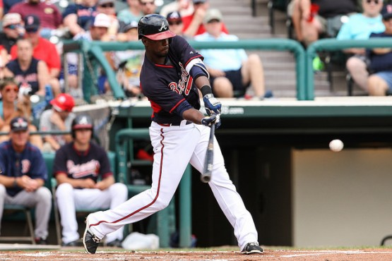 Utilityman Pedro Ciriaco's 19 hits during Atlanta Braves Spring Training camp are the second-most on the team. (Photo by Karl Moore)