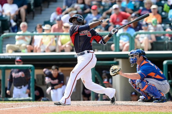 Possible G-Braves' infielder Pedro Ciriaco had a big weekend at the plate for Atlanta. (Photo by Chris Roughgarden)