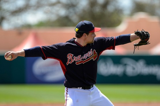 Phil Gosselin, winner of the G-Braves' 2014 MVP Award, is competing to make his first MLB Opening Day roster with the Atlanta Braves. (Photo by Chris Roughgarden)