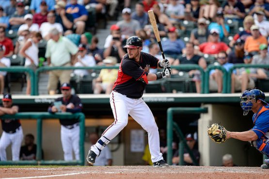 Joey Terdoslavich led the 2014 G-Braves with 15 home runs and 61 RBI. (Photo by Chris Roughgarden)