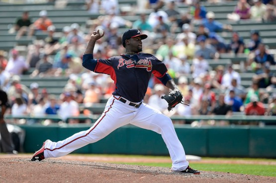 Right-handed reliever Arodys Vizcaino could be a key member of the Gwinnett Braves' bullpen in 2015. (Photo by Chris Roughgarden)