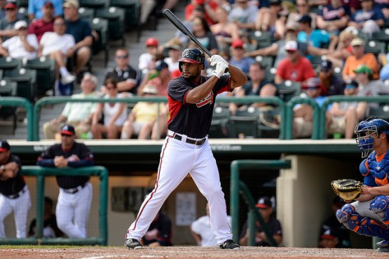 Outfileder Zoilo Almonte batted .245 (12-for-49) with a double, eight runs scored and 4 RBI in 21 Spring Traiing games before the Braves outrighted him Tuesday to Gwinnett. (Photo by Chris Roughgarden)