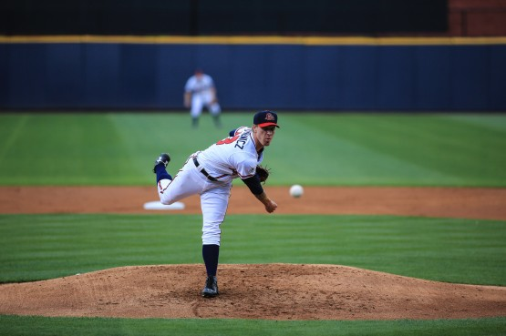 Right-handed starter Mike Foltynewicz went 0-03 with a 2.08 ERA, 10 walks and 30 strikeouts in four starts to begin the 2015 season with the Gwinnett Braves before he was called up May 1 to the Atlanta Braves, where he is 2-1 with a 5.32 ERA through four starts.