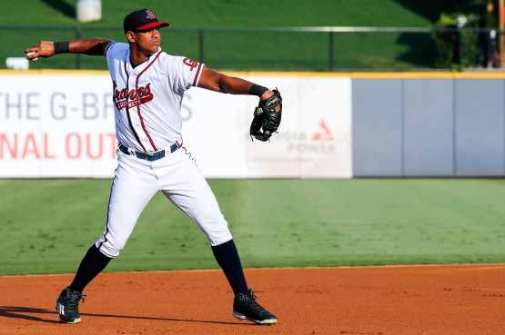 Third baseman Hector Olivera played in the first three game of the Gwinnett Braves' four-game series against the Louisville Bats at Coolray Field. (Andrew Snook)
