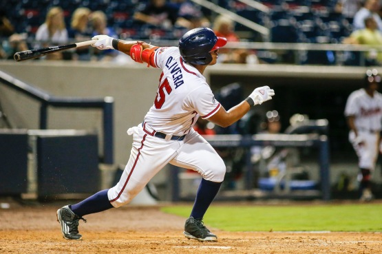 Olivera batted .250 (3-for-12) with a walk and two runs scored in his first three games with Gwinnett. (Andrew Snook)