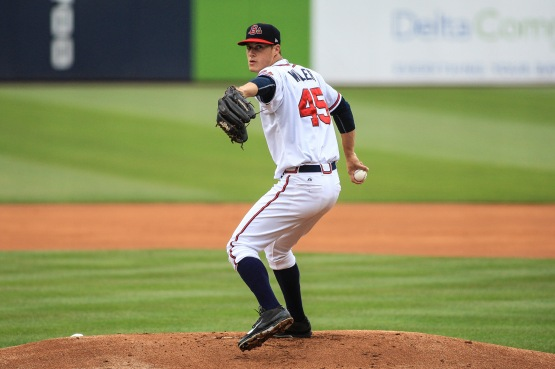 Right-handed starter Matt Wisler was 3-4 with a 4.29 ERA in 12 starts for the Gwinnett Braves before he was promoted on June 19 to make his Major League debut with the Atlanta Braves. (Jim Lacey)