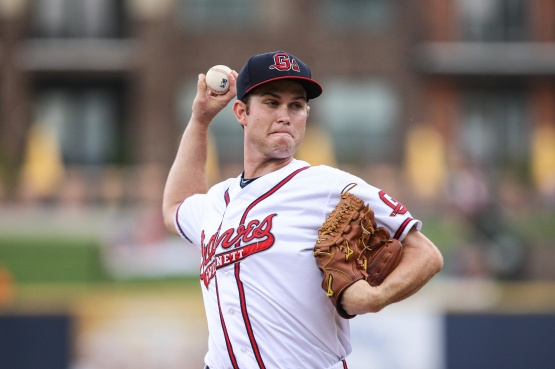 Right-handed starter Ryan Weber went 6-3 with a 2.21 ERA in 27 outings (six starts) before he made his Major League debut with the Atlanta Braves on September 8. (Karl Moore)